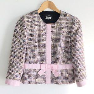 J O N  Tweet  Pink Cropped Jacket